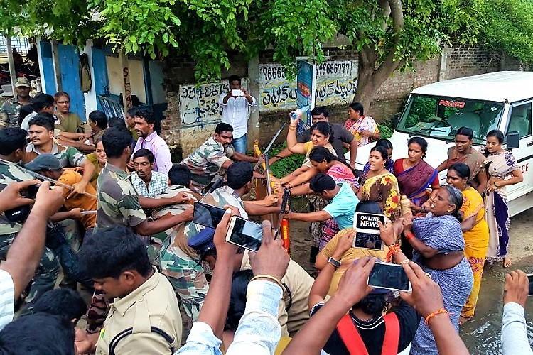 Violence erupts in Andhra village over Godavari Mega Aqua Food Park as locals and police clash