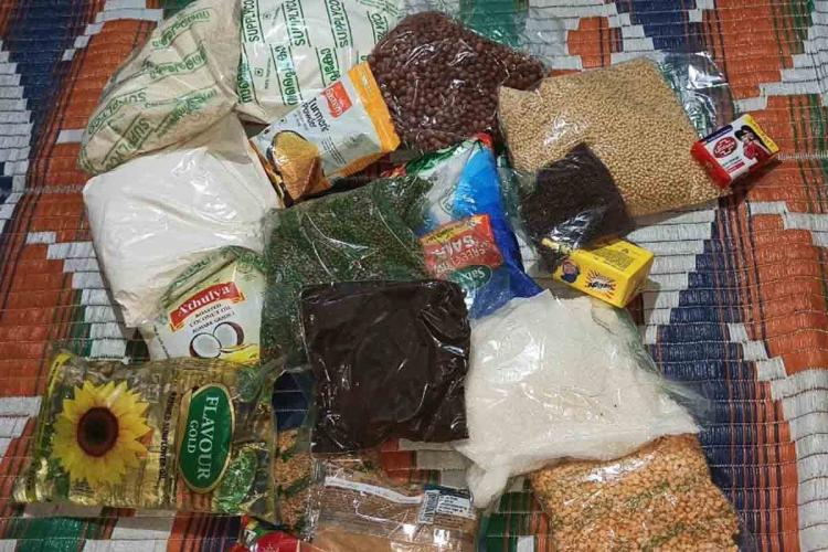 Pulses tea powder oil 17 essentials in food kits distributed by the Kerala govt