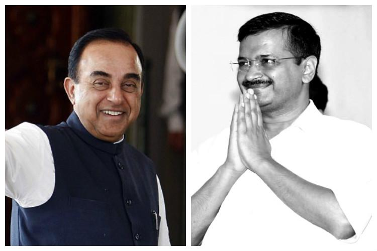 Swamy accuses Kejriwal of breaching constitutional norms writes to President