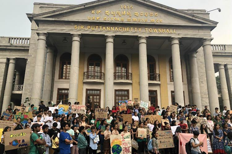Hundreds protest in Bengaluru join global movement against inaction on climate change