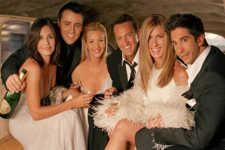 The six main cast members from the web series Friends are seen in the image