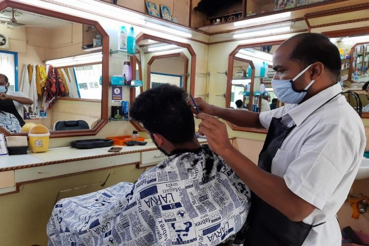 barber shops in Hyderabad have fewer workers as many have left back home