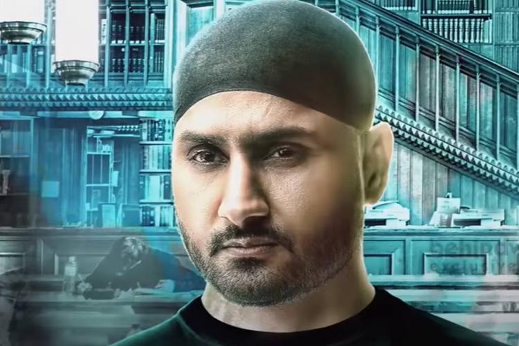 Cricketer Harbhajan Singh in Friendship Tamil movie in black turban