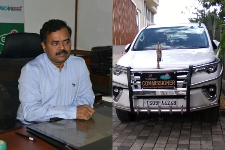 Hyderabad municipal chiefs vehicle stacks up fines worth Rs 6210 for overspeeding