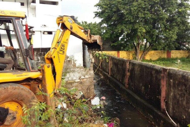 GHMC demolition drive MP Malla Reddys school spared by authorities
