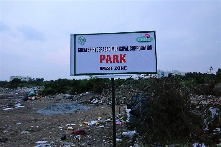 GHMC dumps garbage at notified park in Hyderabad Pollution Control Board issues notice