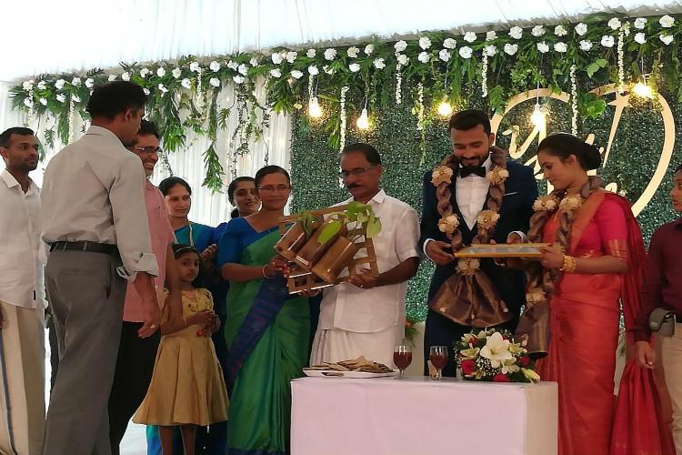 No plastic no disposables Meet the Kerala couple who had a green wedding