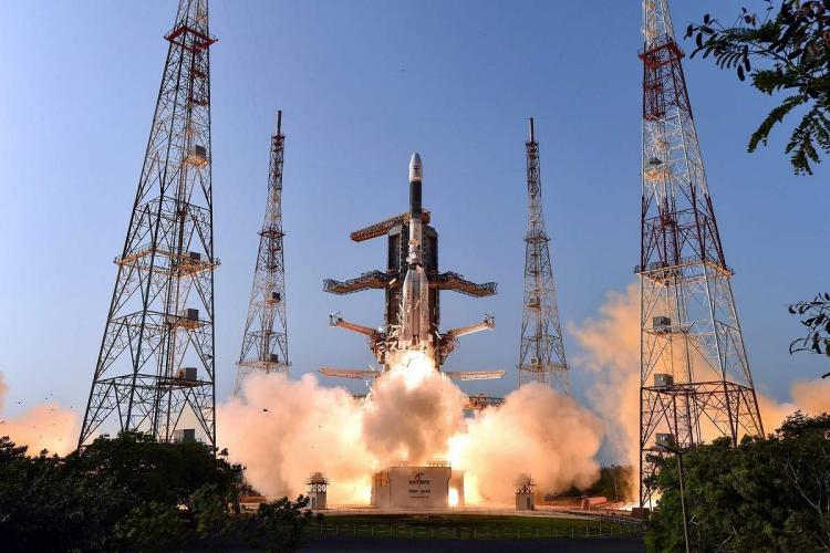 ISRO communication Satellite GSAT-7A on board the GSLV-F11 takes off during its launch in Sriharikota