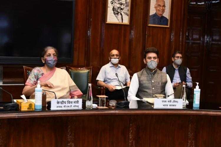 FM Nirmala Sitharaman at the August GST Council meeting