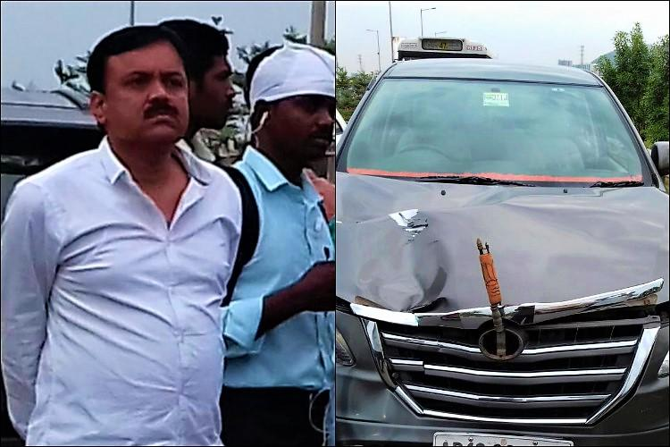 BJP MP GVL Narasimha Raos car hits two women in Andhra one dead