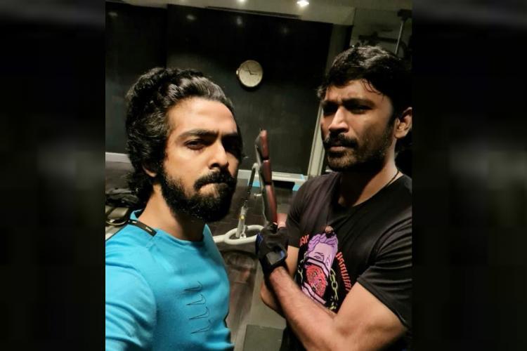 GV Prakash Kumar and Dhanush at gym