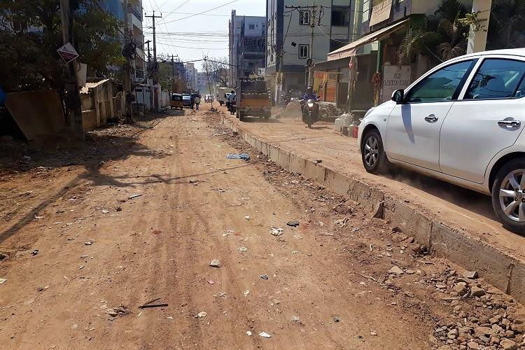 Never-ending road work at Babu Khan lane in Hyderabad troubles residents