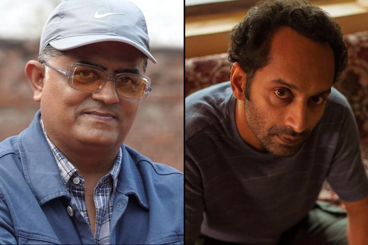 Actor Gajraj Rao on the left and actor Fahadh Faasil on the right