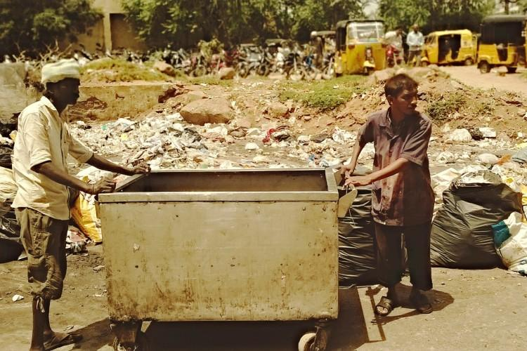 Invisible Heroes Bio-medical waste handlers who risk cleaning up after you leave the hospital