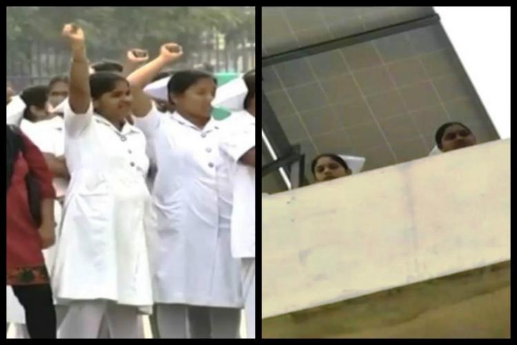 Nurses at Hyderabad Gandhi hospital threaten suicide protest for regularising job