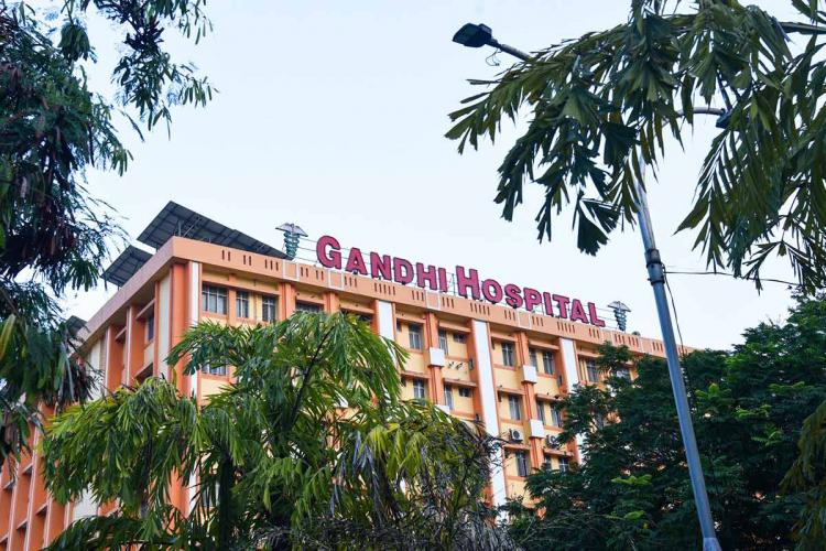 Facade of Hyderabads Gandhi Hospital