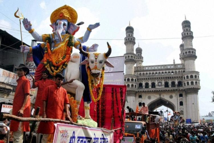 Hyderabad police appeal for unity during celebration of Bakrid Ganesh Chaturthi