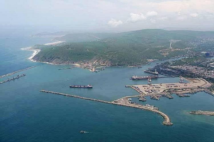 An aerial view of Gangavaram Port in Andhra Pradesh