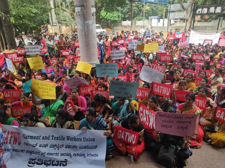 A fight for minimum wages Ktaka garment workers rekindle 18-month protest