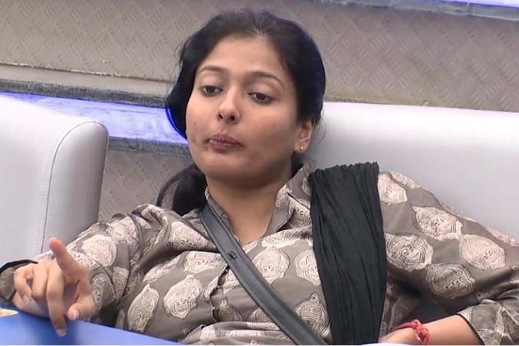 Finally Bigg Boss Gayathri evicted faces uncomfortable questions from audience