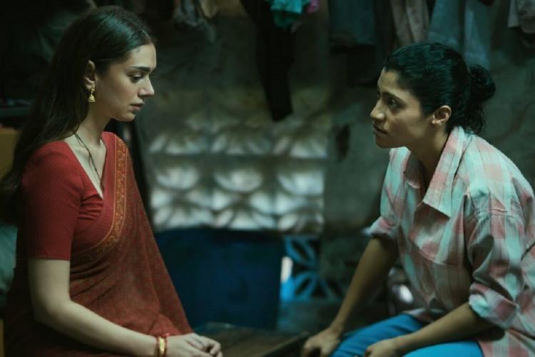 Aditi Rao Hydari and Konkana Sen Sharma having a conversation in Geeli Pucchi