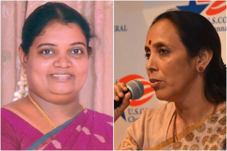 Geetha Jeevan and Poongothai Aladi Aruna Collage