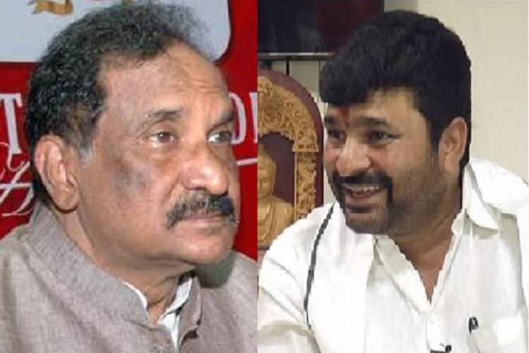 Ktaka BJP demands resignations of KJ George and Vinay Kulkarni stages protests