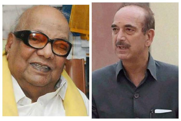 Congress leader Ghulam Nabi Azad to call on Karunanidhi