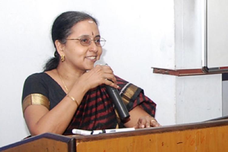 Girija Vaidyanathan speaking at an event
