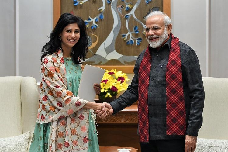 IMFs Gita Gopinath meets PM Modi amid declining growth discusses economy