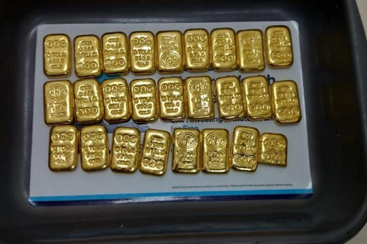 Gold smuggled seized airport