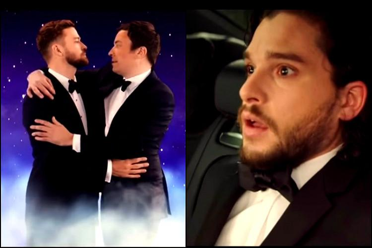 Watch In hilarious Golden Globes opening act Jimmy Fallon waltzes Jon Snow comes back to life