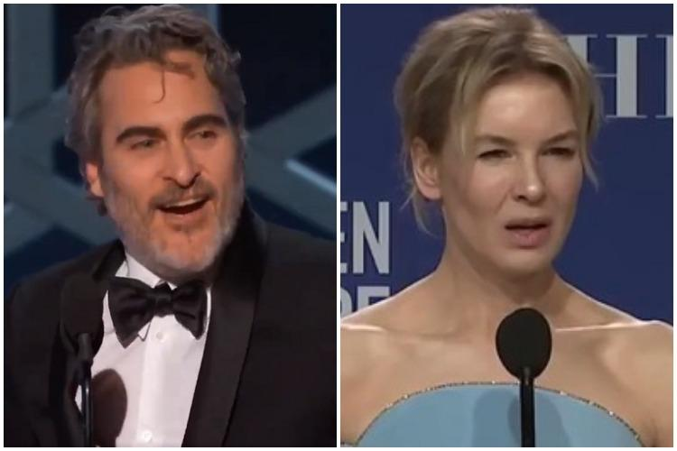 Golden Globes 2020 1917 Joaquin Phoenix Rene Zellweger bag top awards