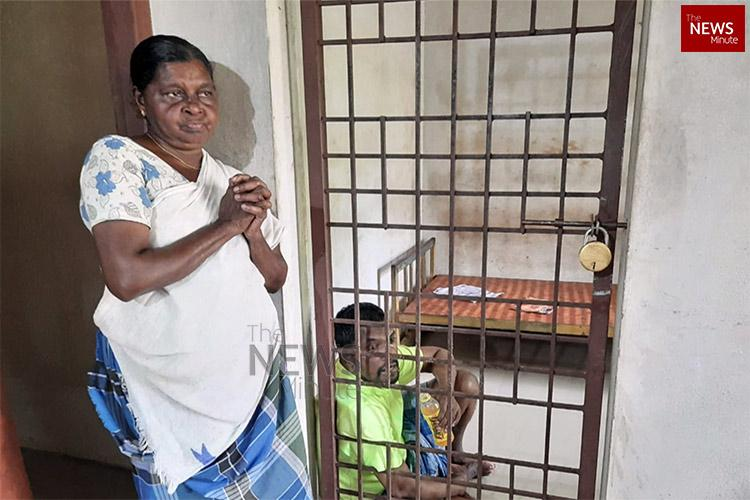 Struggling to make ends meet Kerala woman forced to lock up mentally ill son for 13 yrs
