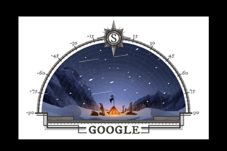 Google Doodle hails 105th year of Roald Amundsens South Pole conquest