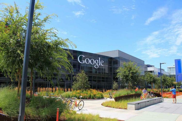 Google office building with logo visible