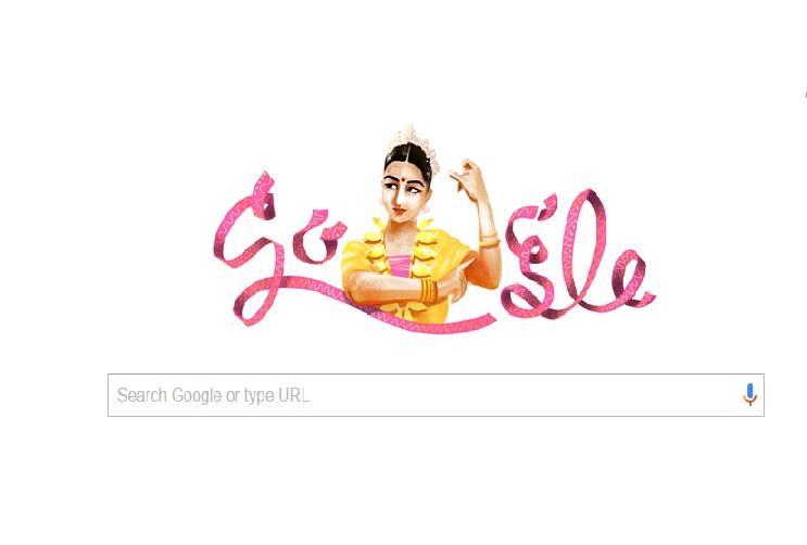 Google doodle features Bharatanatyam dancer Rukmini Devi on her 112th birth anniversary