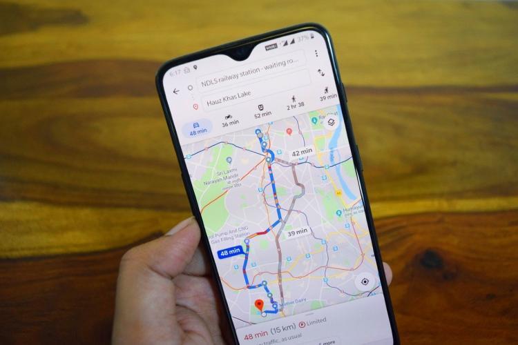 Google Maps on phone