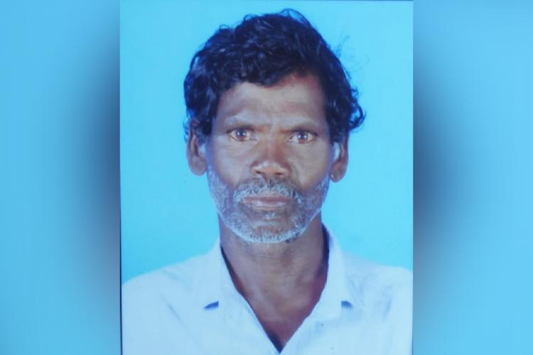 Passport size image of Kerala Tribal Man Gopalan who died in honeybee attack