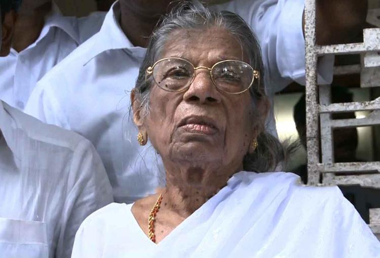 Trouble within JSS party rebels want founder and chief Gowri Amma to resign