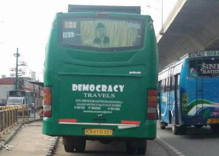Bus with Jinnahs picture in Bengaluru leads to netizens calling for lynching
