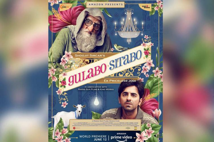 The film poster for the movie Gulabo Sitabo which will release on Amazon Prime