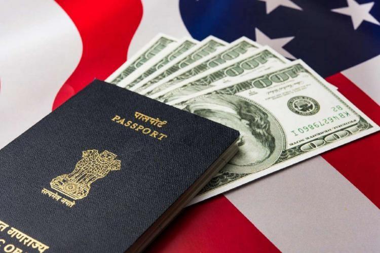 H1b visa passport and Us money