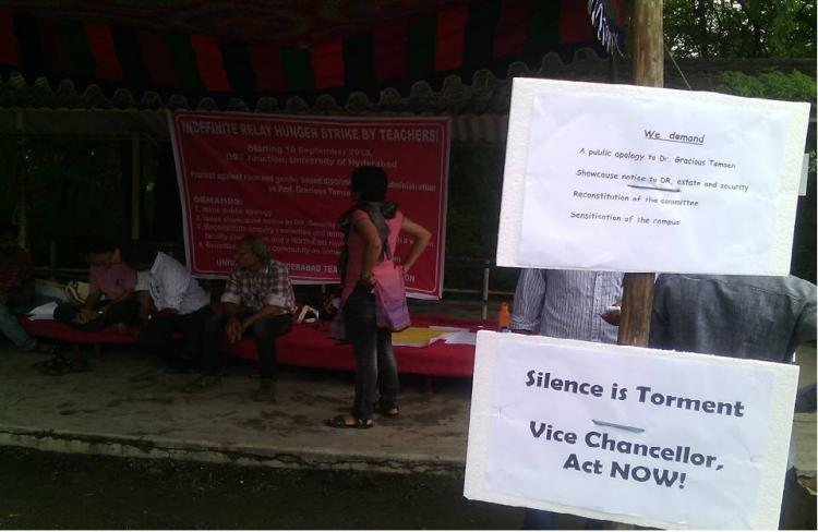UoH faculty calls off relay hunger strike as varsitys VC apologizes