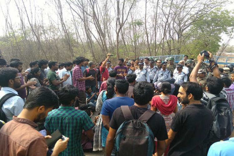 HCU students to organise protest march against arrests security outside VCs lodge