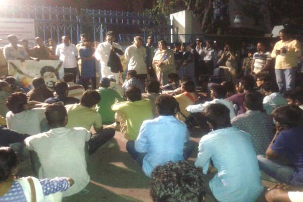Speakers for Ambedkar Jayanthi at Hyd Uni refused entry event held at the gates