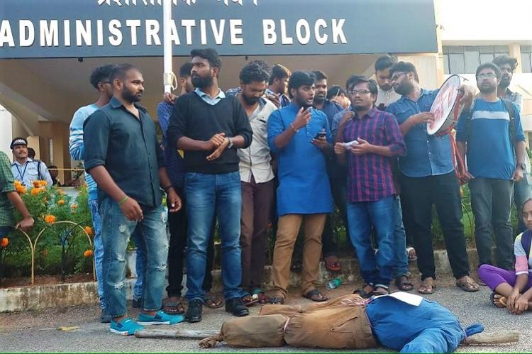 University of Hyderabad puts suspension of 10 students on hold after protest