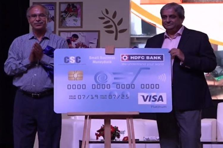 HDFC Bank and CSC launch MoneyBack Credit Card for Village Level Entrepreneurs