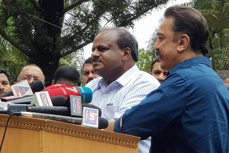 Both Ktaka and TN farmers are important Kumaraswamy after meeting Kamal Haasan