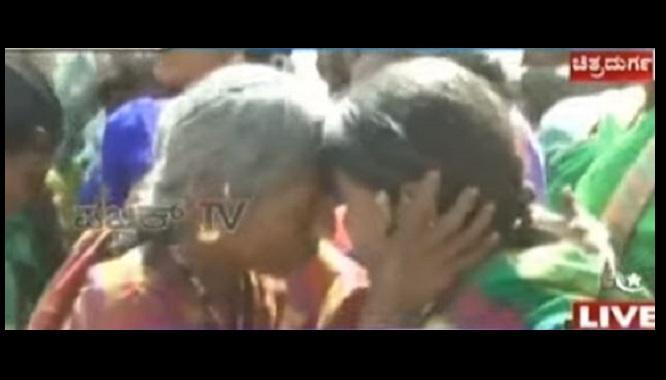 Watch a street full of women in Karnataka head butting